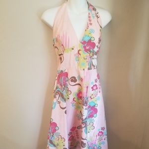 Rocksteady pink haulter dress with funky design
